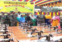 Photo of Army distributed Sewing Machines and Bunk Beds to the poor