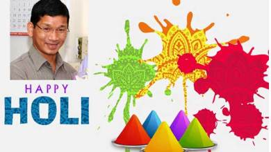 Photo of Arunachal CM greets the people  on the occasion of Holi