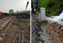 Fresh Land slide affected Rail Service in Lumding - Silchar Section Again
