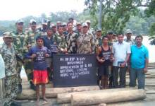 Photo of BSF Nabs Bangladeshi Smugglers with Wooden Logs, Seized Cattles