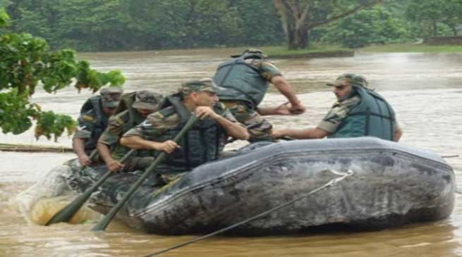Gajraj Corps Carries Out Flood Mock Drill