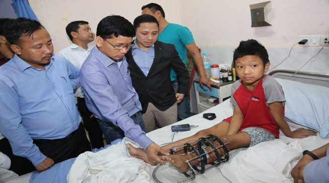 Pul Visits NEIGRIHMS and meets Arunachali patients