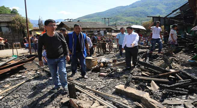 Pul visits Seppa and took stock of fire accident