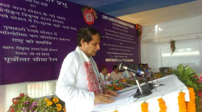 All NE states will be connected with BG rail by 2020- Prabhu