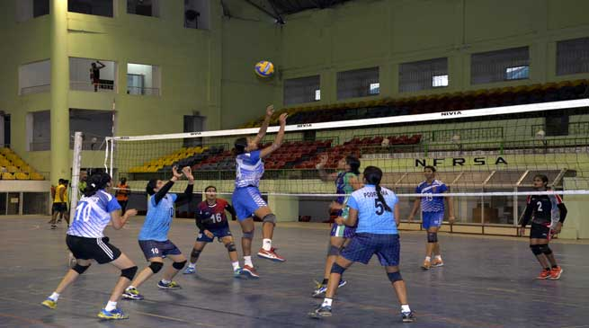 Coaching Camp for Volleyball Players Being Held at Maligaon
