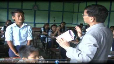 When Chief Minister Pul took Class of Govt Middle School