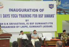 """Yoga Capsule Course"" for BSF Jawans"