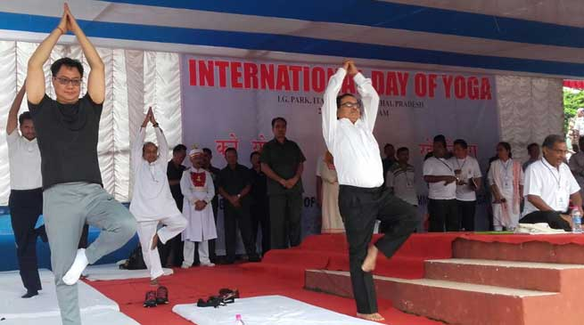 Arunachal Celebrates International Yoga Day