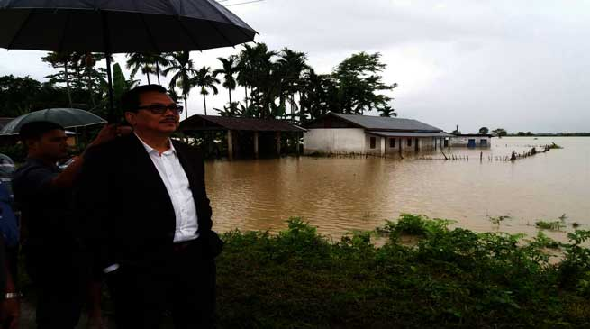 Dy CM Chowna Mein Visits The Arunachal's Flood Affected Areas