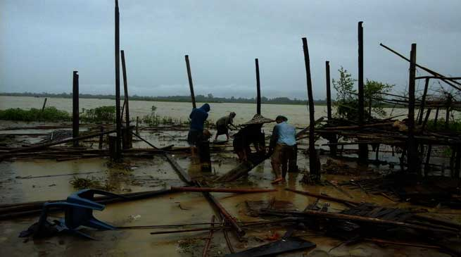 Dharmapur in Miao Circle Faces Drastic Flood Situation