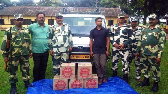 BSF Apprehended One Indian Liquor Smuggler