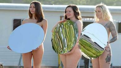 Photo of women pose for nude photo shoot to protest Donald Trump