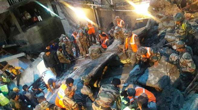 Building Collapse in Darjeeling- 3 Deaths, 7 Rescued, 7 Missing