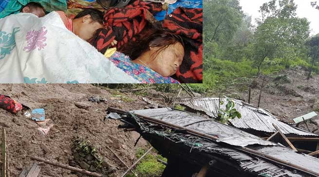 Land Slide in Siang l, Darjeeling Due to Torrential Rains