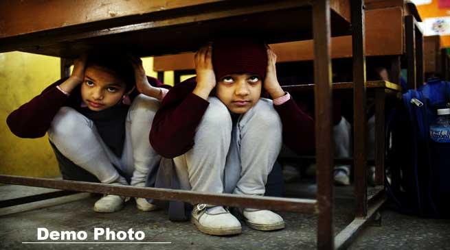 Itanagar- Mock Drill on Earthquake Preparedness Held in Schools