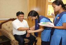 Itanagar- Khandu Celebrates Raksha Bandhan with School Children