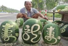 Photo of Chinese Fruit Vendor Finds Novel Way to Sell Watermelons