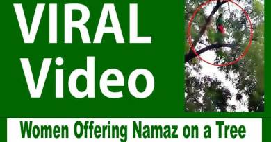 Viral Video- Women Disappears After Offering Namaz on a Tree Branch