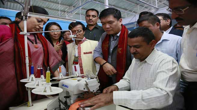 Aarunachal- Irani dedicates the Apparel & Garment Making center