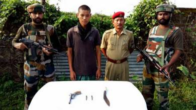 Photo of Army Apprehended Dy C in C of NSCA and NDFB (s) terrorists