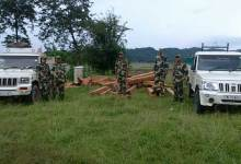 Photo of BSF Confiscates Huge Quantity of Wooden Logs with Two Pickup