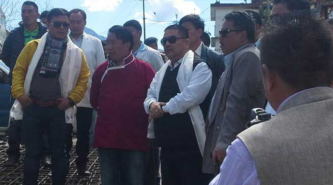 Tawang- Jomde Kena visits District Hospital