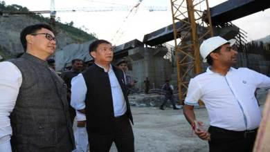 Photo of Pema Khandu and Kiren Rijiju Visits Bichom dam site