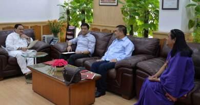 JP Nadda Concerned about 500 bed hospital project at Naharlagun