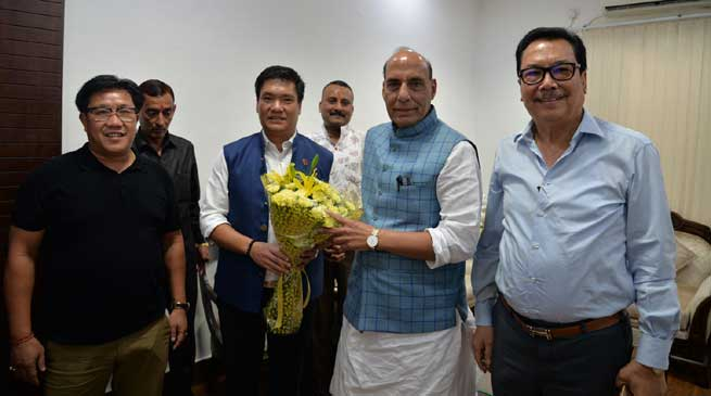 Arunachal needs to raise three more IRBn- Khandu to Rajnath