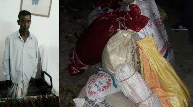 BSF Apprehends Ganja Smuggler along 91 Kg Ganja