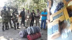 BSF Seizes 665 Bottles Phensedyl and 70 Kg Ganja in Cooch Behar