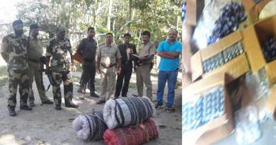 BSF Seizes 665 Bottles Phensedyl and 70 Kg Ganja in Cooch Behar
