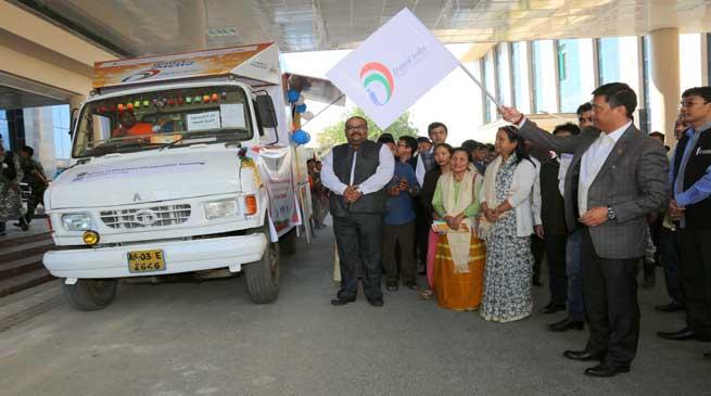 Khandu flags off Digital India Outreach Campaign Van