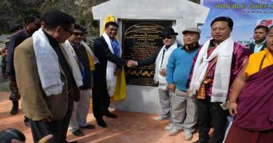 Khandu Lays Foundation Stone of Dikshi Hydro Electric Project