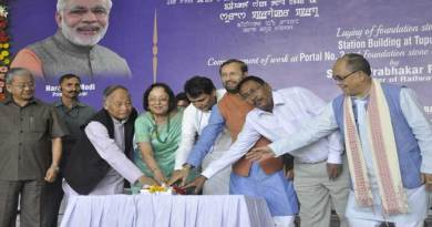 Prabhu Lays Foundation Stone of Tupul Station Building