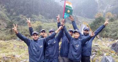 joint expedition team of ITBP and IMF scaled the Mt Kangto Base