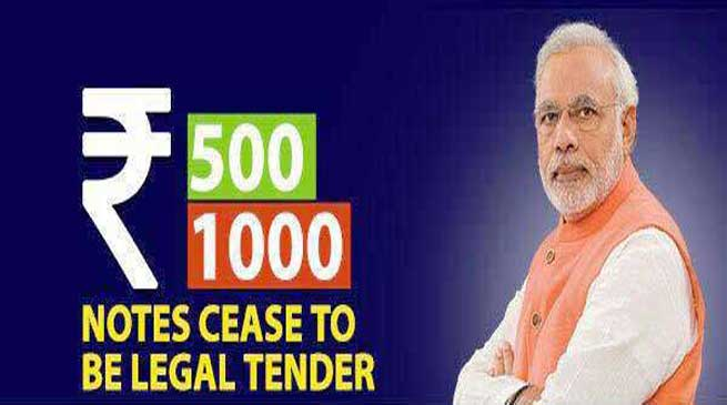 500 and 1000 Rupee Notes will no longer be legal tender from midnight tonight- PM Modi