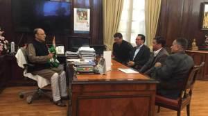 Chief Minister Pema Khandu meets Arun Jaitley