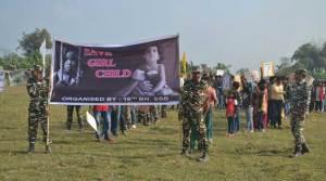 SSB Organised Rally on Beti Bachao-Beti Padhao Abhiyan