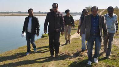 Photo of Chowna Mein inspected Flood Protection Works in Mahadevpur