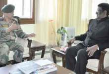 Photo of Goc 3 Corps Anil Chauhan meets Arunachal Governor S V. Shanmuganathan