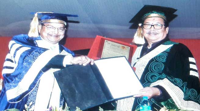 Dy CM Chowna Mein conferred with Honoris Causa Award