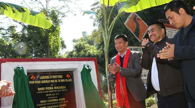 Khandu visits Baririjo, launches development projects