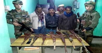 Three MULTA Linkman arrested , Seven Rifles Recovered