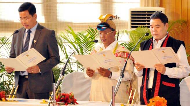 Arunachal Pradesh- Three new Minster inducted in Khandu's Cabinet