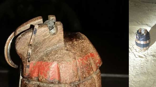 Dibrugarh Police recovered 1 grenade at Khanikar Tea Estate