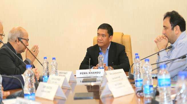 Khandu meets Power people to give boost to Hydro Power Sector