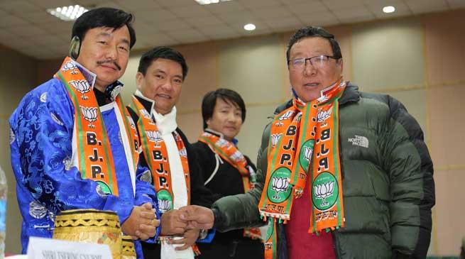 Panchayat Leaders from Tawang district join BJP