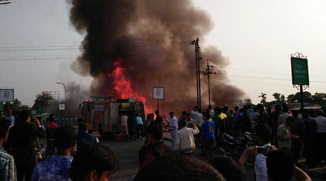 Photo Story- Huge Fire Breaks out in Dibrugarh
