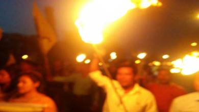 Photo of ABSU Torch Light Rally in support of Hunger Strike